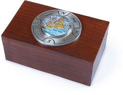 Customizable Map Keepsake Box by Chart Metalworks Nautical Travel Gift Idea