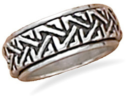 Celtic Spin Ring 925 Sterling Silver