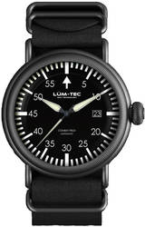 Lum-Tec Watch - Combat Field Series - X3 Automatic Mens w/ Black Nylon & Brown Leather Straps