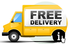 Free Delivery on all orders within the USA; free shipping on orders to all other countries if order amount is $100 or more