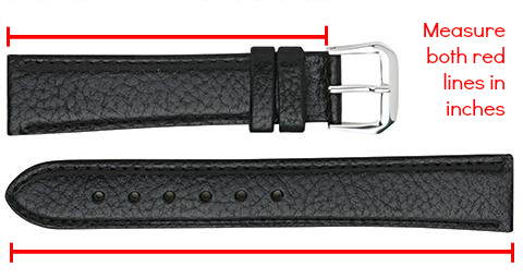 How to measure length of your watch band